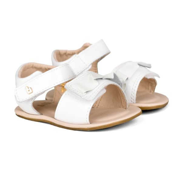 Sandale Fetite Bibi Afeto Albe Cu Volan