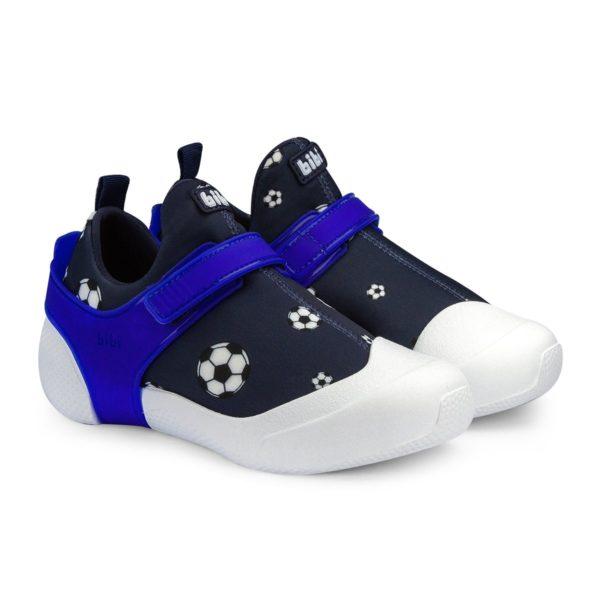 Pantofi Baieti BIBI 2way Negru Minge Fotbal